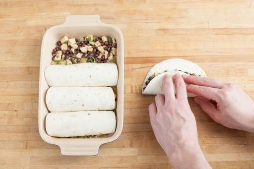 Fill & roll the enchiladas: