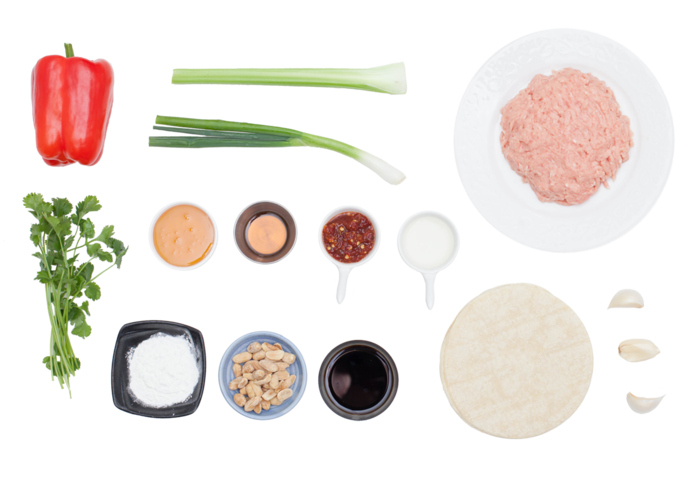 Kung Pao Chicken Tacos  ingredients