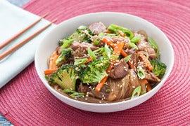 Korean Stir-Fried Beef Chapchae with Sweet Potato Vermicelli
