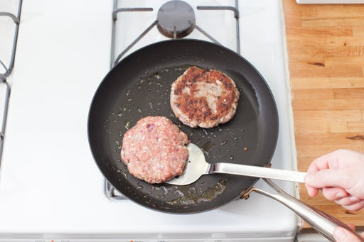 Form & cook the burgers: