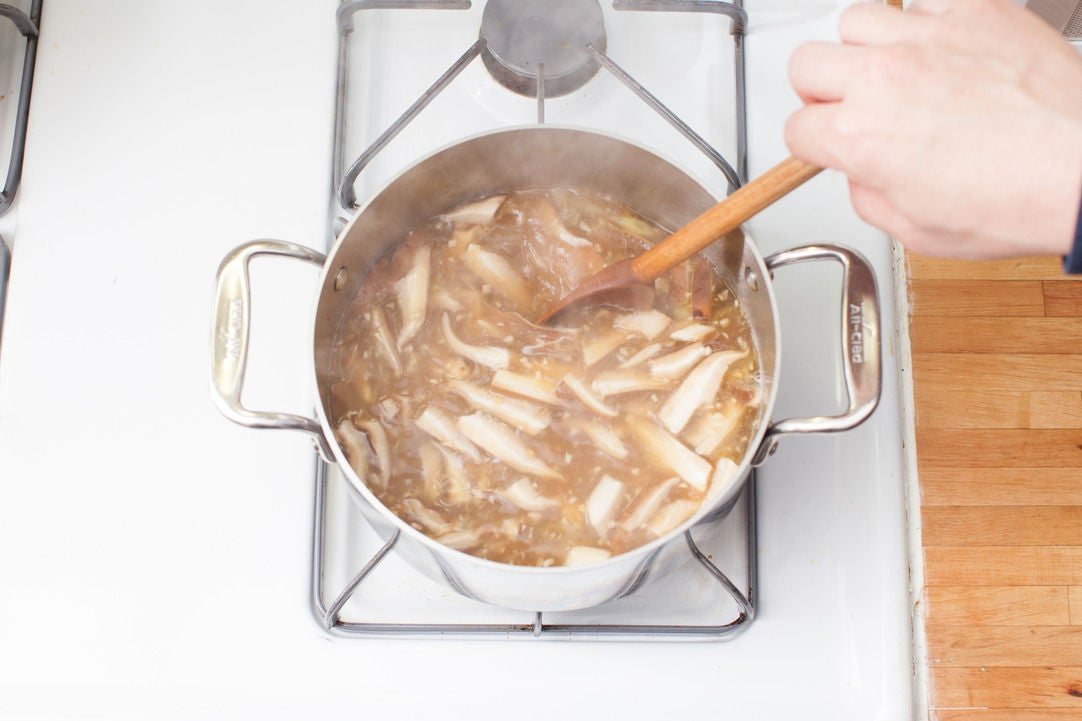 Finish the broth:
