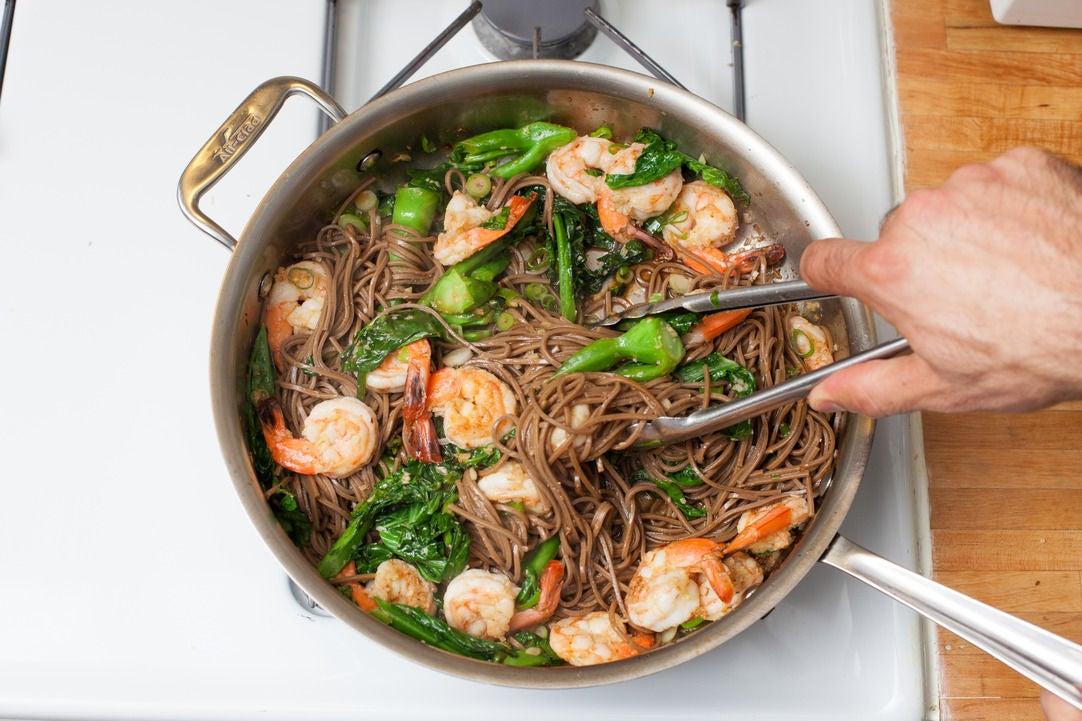 Recipe: Lemongrass Shrimp with Soba Noodles & Chinese Broccoli - Blue ...