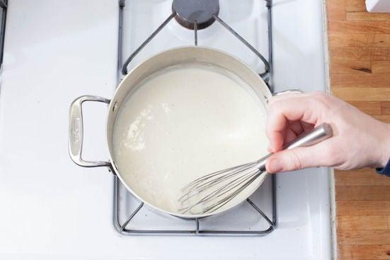 Make the bechamel sauce: