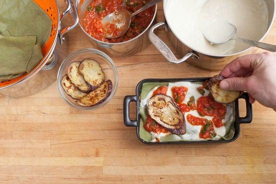 Assemble the lasagna: