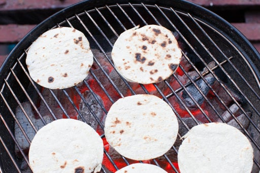 Grill the tortillas & plate your dish: