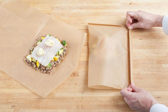 Assemble & bake the packets: