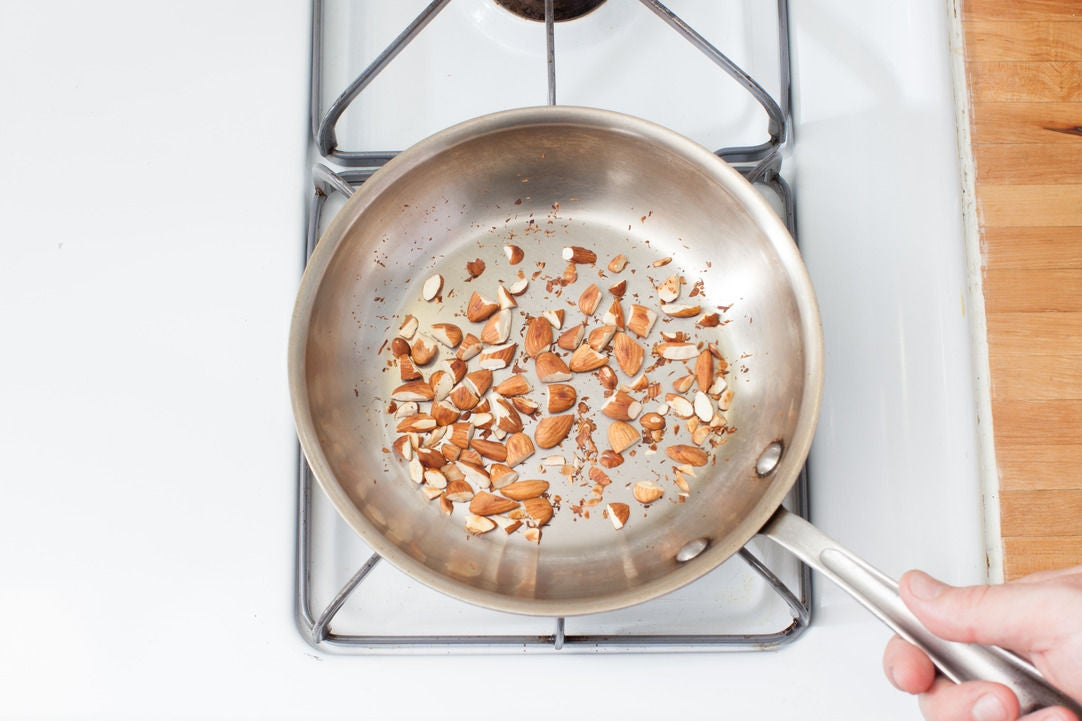 Toast the nuts: