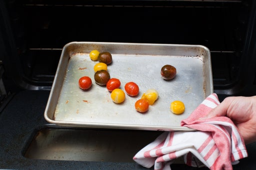 Roast the tomatoes: