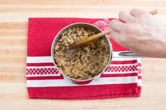 Cook the fregola: