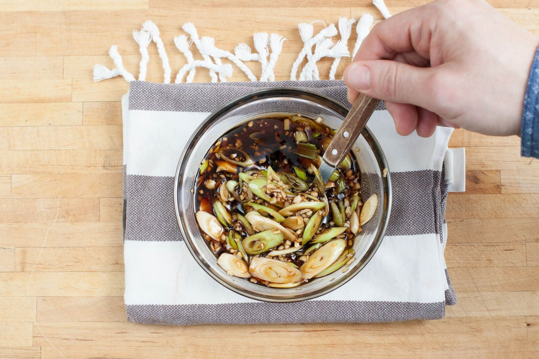 3.	Make the maple-soy glaze: