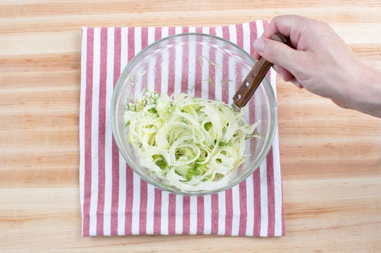 Dress the fennel: