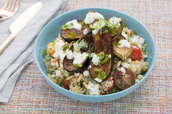 Recipe: Quinoa Tabbouleh & Fairy Tale Eggplants with Toasted Pine Nuts ...
