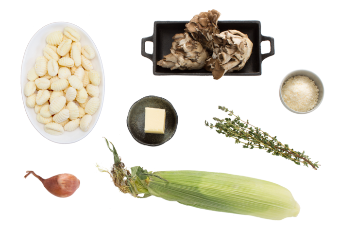 Fresh Gnocchi & Maitake Mushrooms with Corn, Thyme & Browned Butter  ingredients