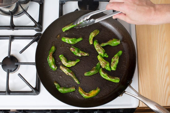 Cook the peppers: