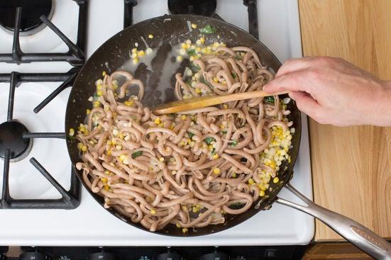 Finish pasta: