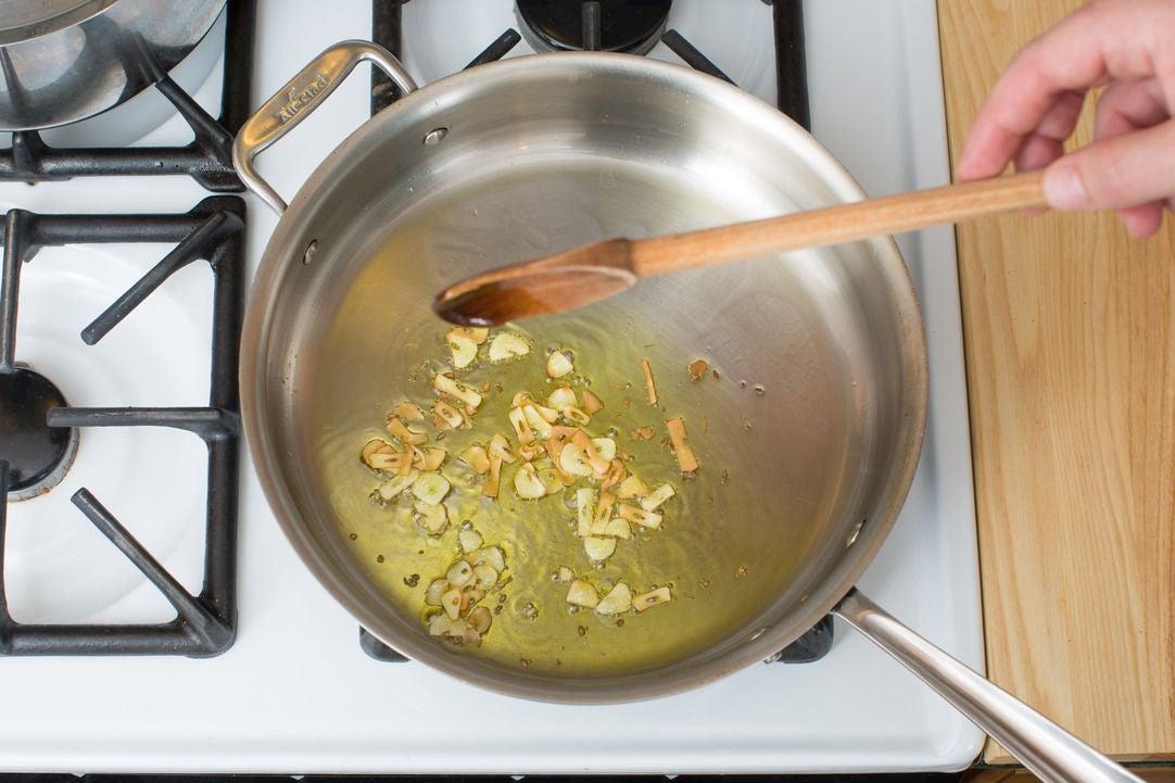 Toast the garlic: