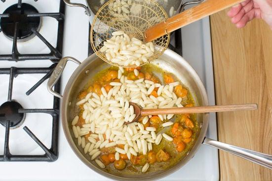Cook the cavatelli: