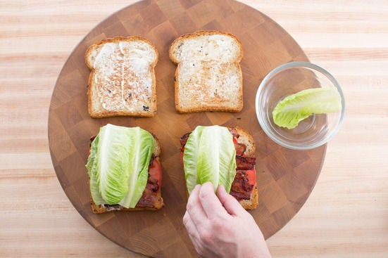 Make the sandwiches: