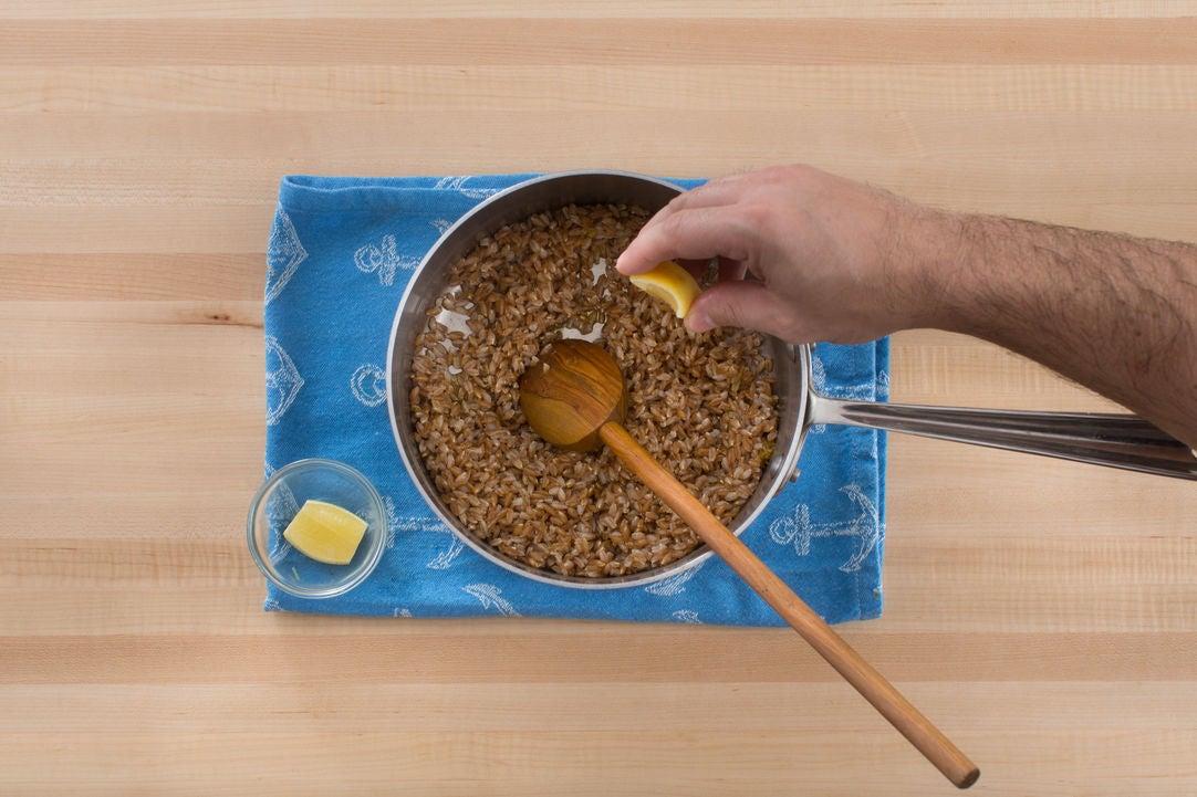 Toast & boil the farro:
