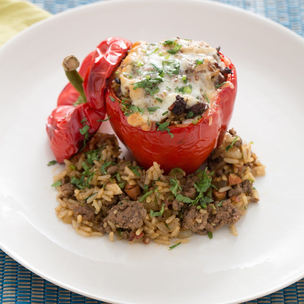 Southwestern-Style Beef-Stuffed Peppers with Chipotle Pepper & Monterey Jack Cheese