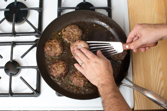 Assemble & cook the patties: