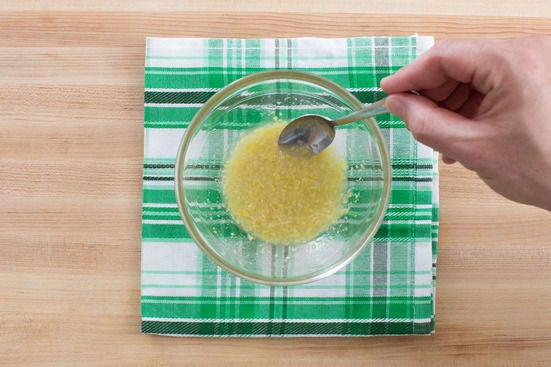 Make the lemon-horseradish dressing:
