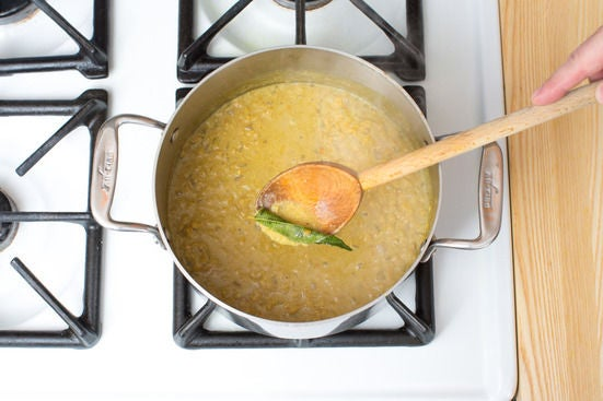 Finish the dal: