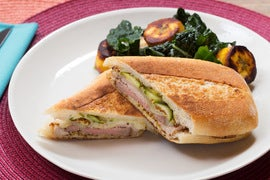 Cuban Sandwiches with Sweet Plantain & Kale Salad