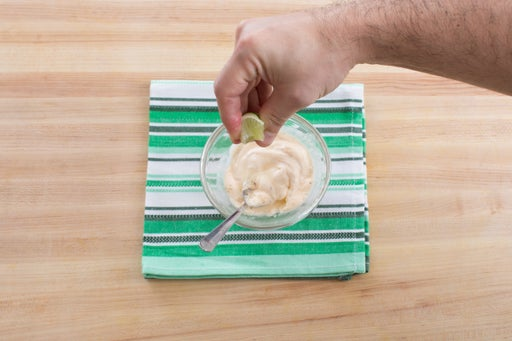 Make the lime crema: