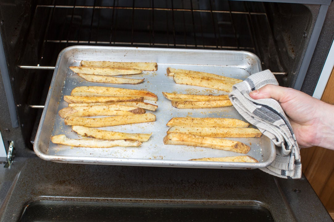 Make the oven fries: