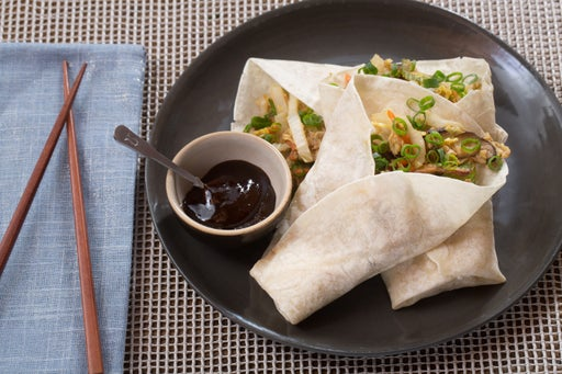 Moo Shu Vegetables with Pancakes & Plum Sauce