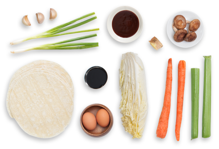 Moo Shu Vegetables with Pancakes & Plum Sauce