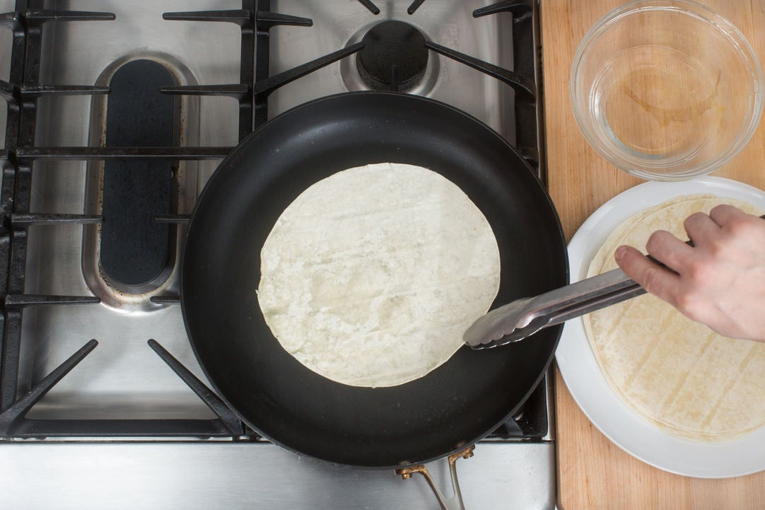 Warm the pancakes: