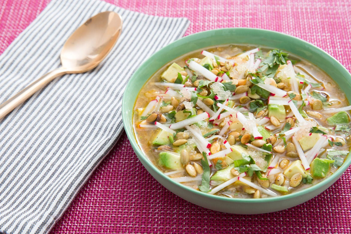 Recipe: Zesty Vegetable & Finger Lime Pozole with Sweet & Spicy ...