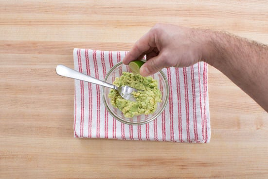 Mash the avocado: