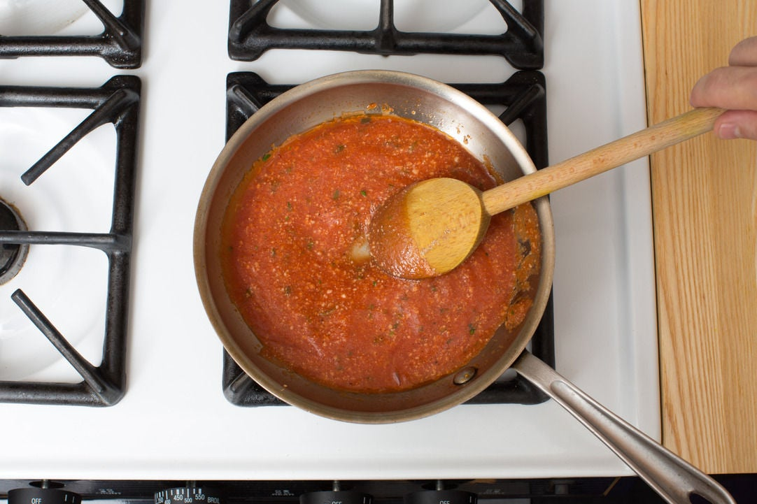 Make the marinara sauce & plate your dish: