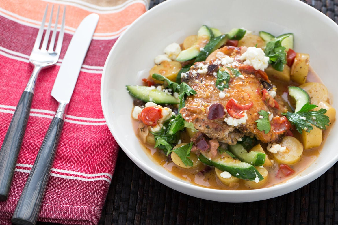 ... -Style Braised Chicken Thighs with Fingerling Potatoes - Blue Apron
