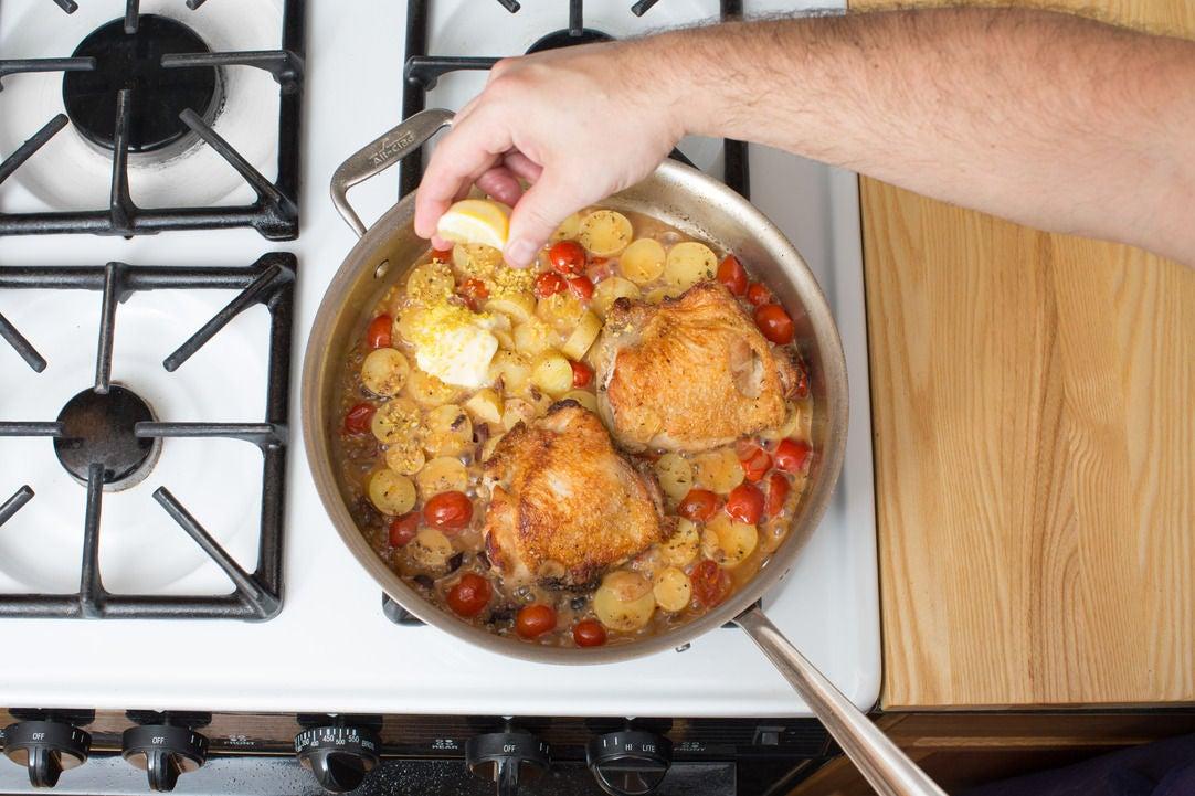 Braise the vegetables & chicken: