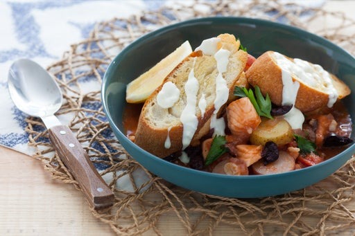 Provençal Fish Stew with Toasted Baguette & Aioli