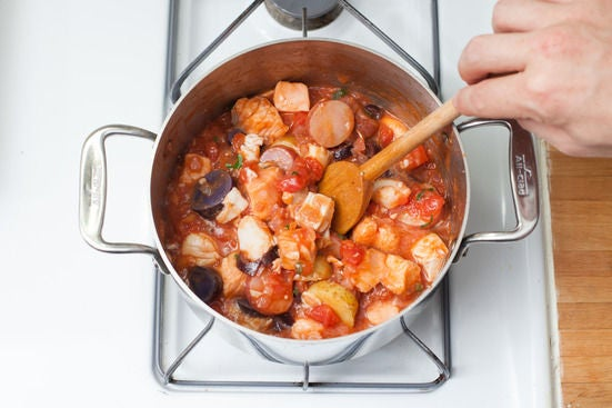 Finish the stew: