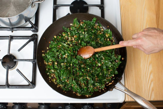 Add the kale: