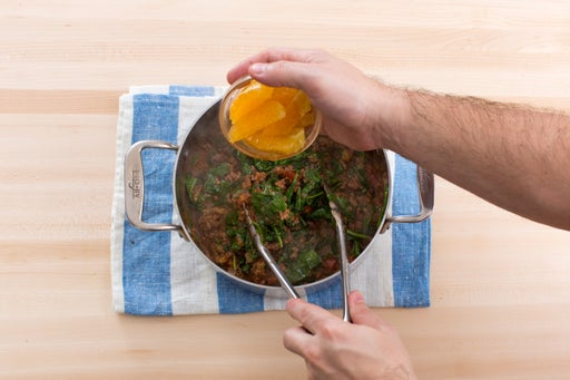 Finish the meat sauce: