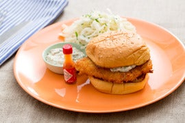 Crispy Fish Sandwiches with Coleslaw & Homemade Tartar Sauce