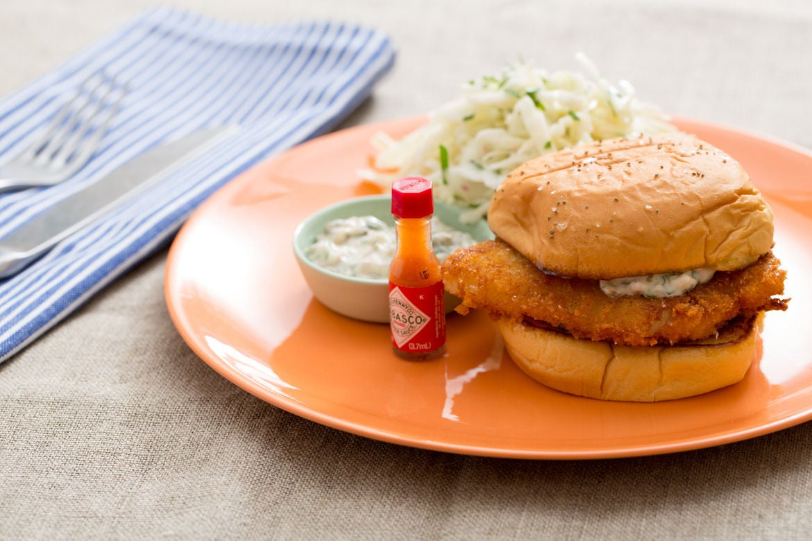 Recipe: Crispy Fish Sandwiches with Coleslaw & Homemade ...