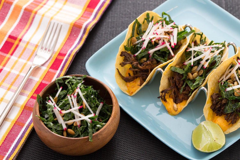 Blue apron tacos - Mole Mushroom Tacos