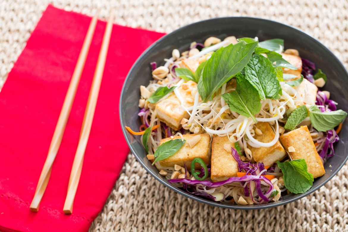 Vegetarian Bun Cha with Seared Tofu