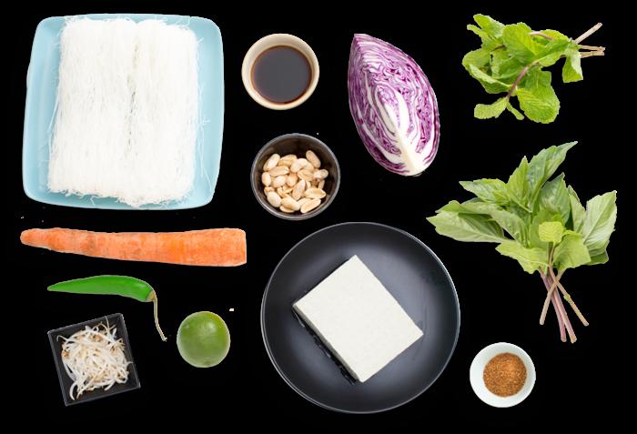 Vegetarian Bun Cha with Seared Tofu