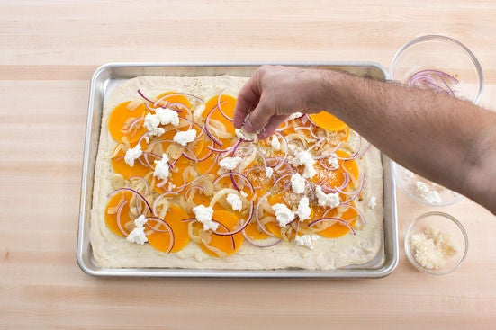 Assemble & bake the pizza: