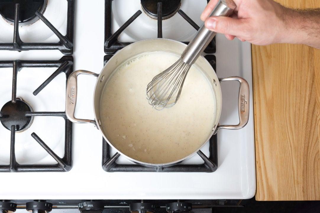 Make the béchamel sauce: