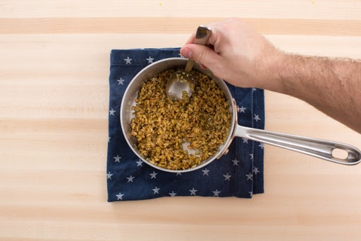 Cook & dress the freekeh:
